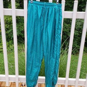 Vintage Blair Boutique Swishy Wind Pants Teal Md